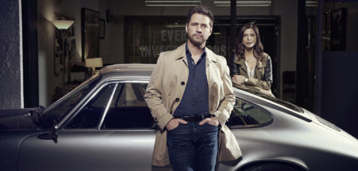 Jason Priestley et Cindy Sampson dans Private Eyes
