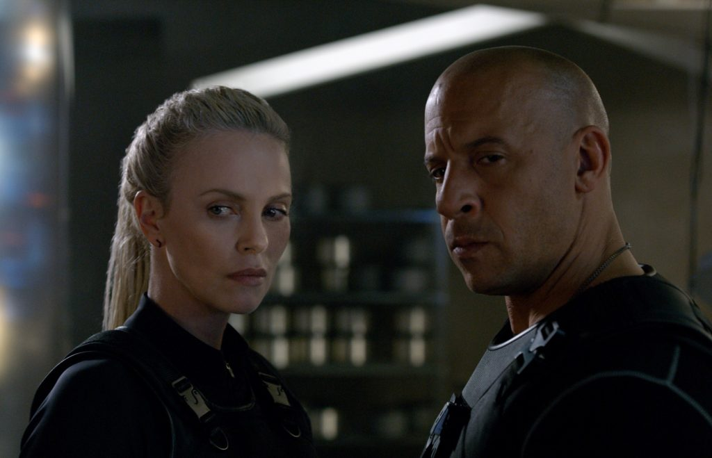 Charlize Theron joue Cipher face à Vin Diesel dans Fast and Furious 8